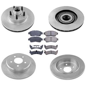 Stop Look REAR WHEEL DRIVE ONLY for Ford Explorer 95-01 Rotors & Brake Pads 6pc