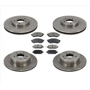 For 2008-2012 Infiniti EX35 Front & Rear Brake Disc Rotors & Ceramic Pads 6pc