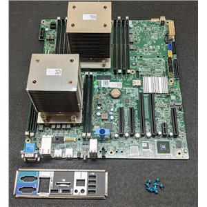 Dell PowerEdge T430 Motherboard LGA2011-3 DDR4 XNNCJ 975F3 w/ Dual Heatsinks