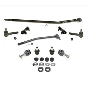 Drag Links Sleeves Tie Rods Ball Joints & Radius Arm Kit for Ford E-150 Van 2005