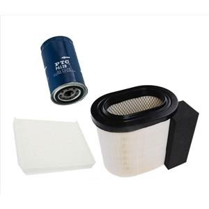 For 17-19 Ford F250 6.7L Turbo Powerstroke Air Filter Cabin & Oil Filter 3pc
