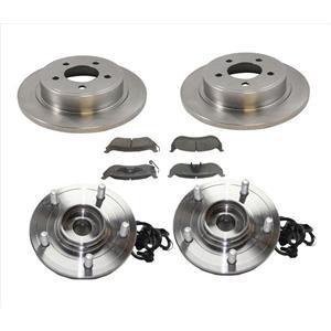 For Chrysler 04-06 Pacifica Disc Brake Rotor Rear Brake Pads Rear Hub Bearing