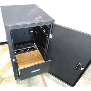 """Atlas Sound 19"""" 21U Standard Enclosure for Electronics Rack Mount Cabinet"""