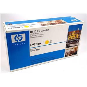 NEW Genuine HP C9732A Yellow Toner Cartridge HP Color Laserjet 5500 5550