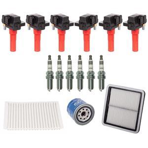 Direct Ignition Coils Iridium Spark Plugs 15PC Kit for Subaru Tribeca 3.6L 10-14