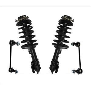 Front Complete Spring Struts + Sway Bar Links for 96-99 Pathfinder & QX4 97-99