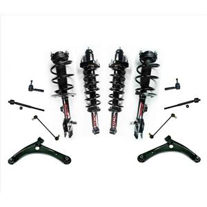 Front & Rear Coil Spring Struts & Control Arms Kit 07-10 Jeep Compass & Patriot