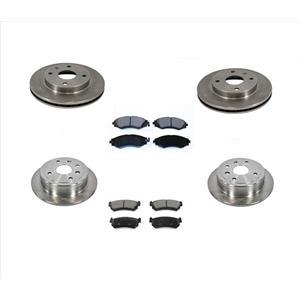 Front & Rear Brake Rotors & Ceramic Pads KIT for Suzuki Forenza & Reno 05-06