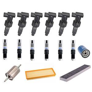 Ignition Coils Spark Plugs Filters Tune Up Kit for Jaguar X-Type 3.0L V6 01-08
