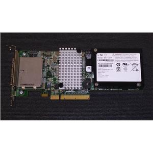 LSI MegaRAID 9280-8e Dual Port External SAS 6Gb Controller W/ BAT1S1P