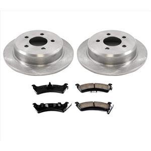 Rear Disc Rotors & Ceramic Brake Pads for Jeep Grand Cherokee 93-98