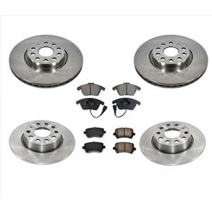 Front & Rear Brake Disc Rotors & Ceramic Pads for Audi A3 A3 Quattro 06-09