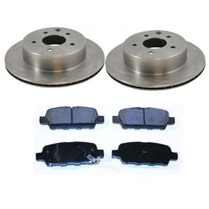Rear Disc Brake Rotors & Ceramic Pads Set Kit For 08-13 Rogue & 350z 2003-2005