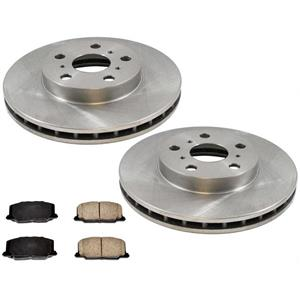 Front Brake Rotors & Ceramic Pads for Toyota Camry 2.0L Without ABS Brakes 88-91