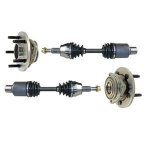 Frt Wheel Bearing Assembly CV Shafts For 05-10 Dakota 4x4 Rear ABS Only