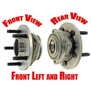 (2) FRONT Wheel Bearing and Hub Assembly For 05-10 Dakota 4x4 Rear ABS Only