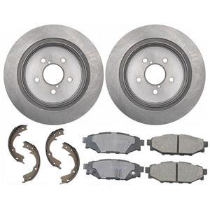 Rear Brake Rotors Ceramic Pads Parking Shoe fits For 05-09 Subaru Legacy Outback
