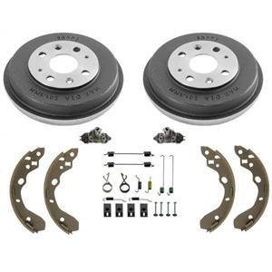 Fits 99-03 Mazda Protege (2) Brake Drums Brake Shoes and Springs Wheel Cylinders