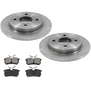 Rear Disc Rotors With Ceramic Pads for 14-19 Fiesta ST With Rear Disc Brakes