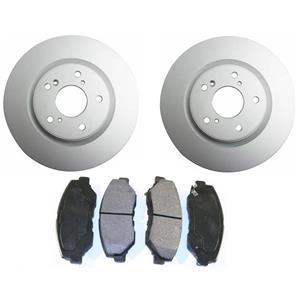Front Brake Disc Rotors Ceramic Pads for Honda CRV Front Wheel Drive 3pc 12-16