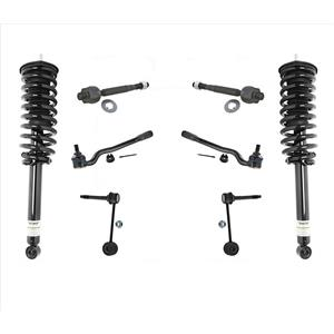 Non Electronic Front Coil Spring Struts Tie Rods & Links For Lexus LS430 8pc