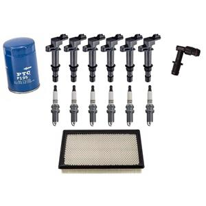 (6) All New Ignition Coils Filter 15pc Kit Fits for  Jeep Liberty 3.7L 2002-2007