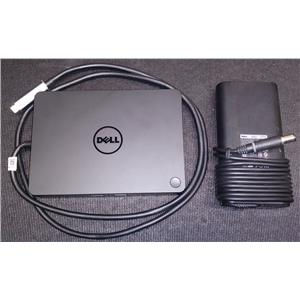 Dell Business Dock WD15 K17A USB Type C 4K Monitor Support 5FDDV w/ AC Adapter