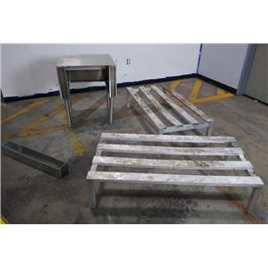RECYCLED - Lot of Miscellaneous Kitchen Tools Stainless Steel Prep Table & more