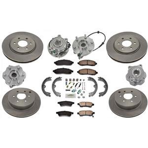 Hub Bearings Rotors Pads 4 Wheel Drive 05-12 for Nissan Pathfinder / No Armada