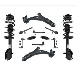 Front Struts Lower Control Arms Tie Rods Links 12 Pcs Kit For 11-14 Ford Edge