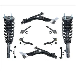 Front Complete Struts Lower Control Arms Tie Rods Links for Mazda 6 2.5L 09-13