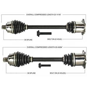Front CV Axle Shaft For 05-10 A6 Quattro All Wheel Drive Automatic Transmission