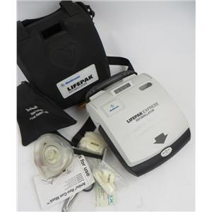 Medtronic LifePak Express AED Defibrillator W/ Battery Accessories & Soft Case
