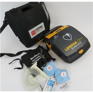 Medtronic 3200731-006 LifePak CR Plus AED Defibrillator W/ Accessories & Case