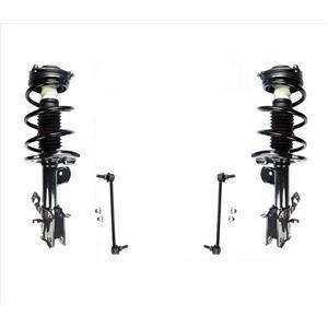 Front Complete Coil Spring Struts & Sway Bar Links for Nissan Sentra 1.8L 13-17