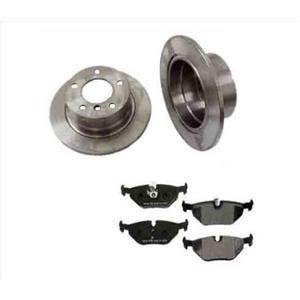 95-01 BMW 740i 740il (2) 34179 Rear Brake Rotors & CD683 Ceramic Pads W/Sensors