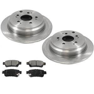 Rear Brake Disc Rotors & Ceramic Pads for Honda Odyssey 2005-2010