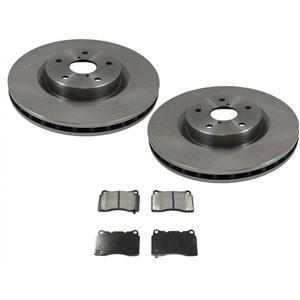 New Front Brake Rotors Brake Pads fits for Subaru WRX-STi E257 2.5L Turbo 05-16
