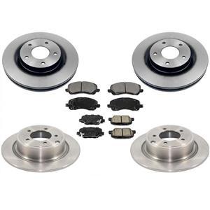 F & R Brake Rotors & Brake Pads Front Wheel Drive for Mitsubishi Outlander 13-15