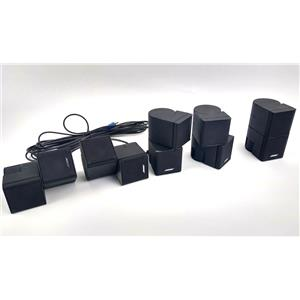 Lot of 5x Bose Jewel Double Cube speakers Lifestyle Acoustimass Black - WORKING
