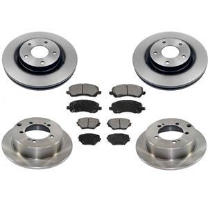 Fits For 11-12 Outlander Sport RVR Frt & Rr Brakes Disc Rotors Ceramic Pads 6pc