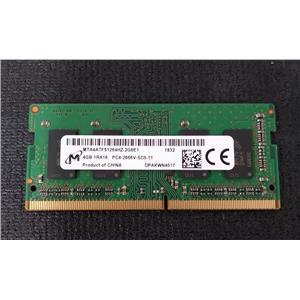 Micron MTA4ATF51264HZ-2G6E1 4GB 1Rx16 PC4-2666V 260 PIN SODIMM Laptop Memory