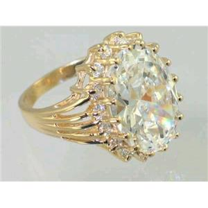 R270, Cubic Zirconia, Gold Ring