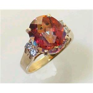 R244, Twilight Fire Topaz, Gold Ring