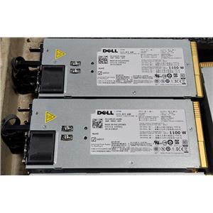 Lot of 2 Dell PowerEdge T710 R510 1100W PSU TCVRR GVHPX 3MJJP F6V5T 9PG9X 1Y45R