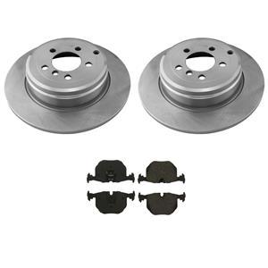 Fits 03-05 Land Rover Range Rover REAR Brake Rotors & Brake Ceramic Pads