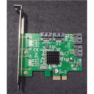 Syba SI-PEX40064 4-Port SATA3 III Marvell 88SE9215 Controller Card High Profile