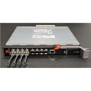 Dell Brocade M6505 24 Port 16Gbps Fibre Switch T6RG7 w/ 4x Brocade 57-0000088-01