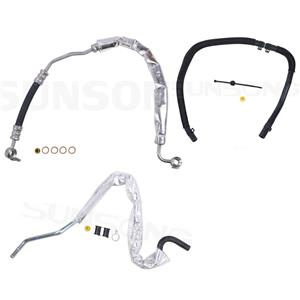 Power Steering Pressure Hose Fits 2007-2010 Ford Edge 7T4Z3A719A 8T4Z3A719A 3pc
