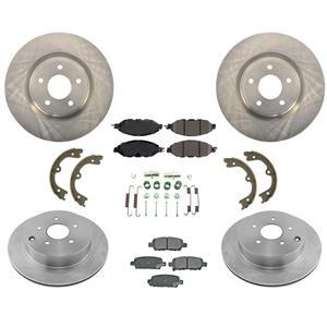 Fits 2013-2020 Nissan Pathfinder Front & Rear Brake Rotors & Ceramic Pads Kit